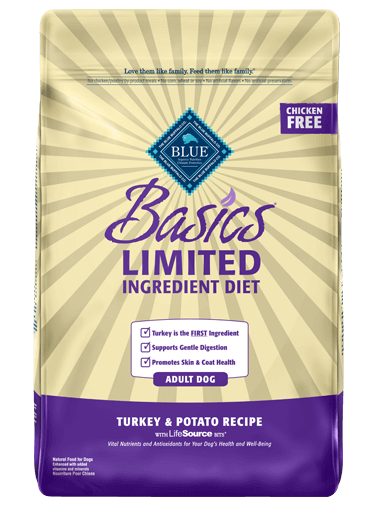 Blue Buffalo Basics Limited Ingredient Diet Turkey & Potato Recipe For Adult Dogs