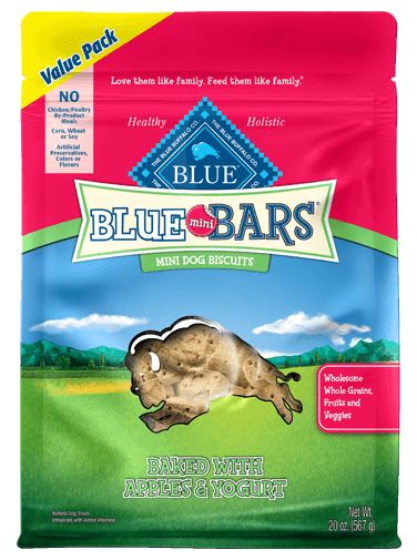 Blue Buffalo Blue Mini Bars Apples and Yogurt Biscuits