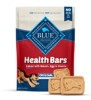 Blue Buffalo Health Bars Baked with Bacon, Egg and Cheese