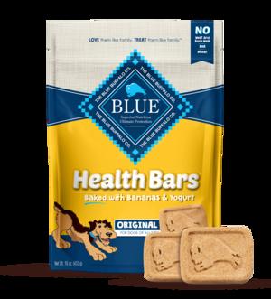 Blue Buffalo Health Bars Baked with Bananas and Yogurt