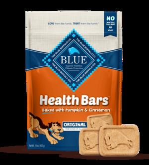 Blue Buffalo Health Bars Baked with Pumpkin and Cinnamon