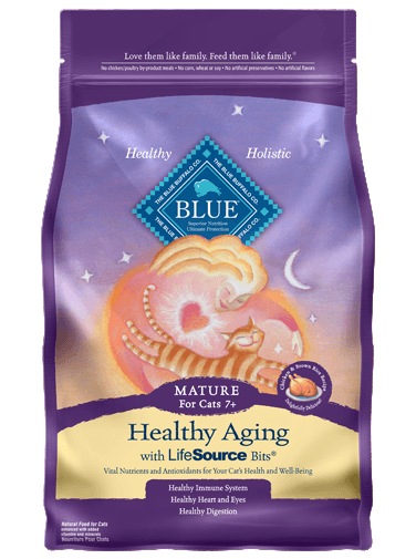 Blue Buffalo Healthy Aging Chicken and Brown Rice Recipe For Mature Cats