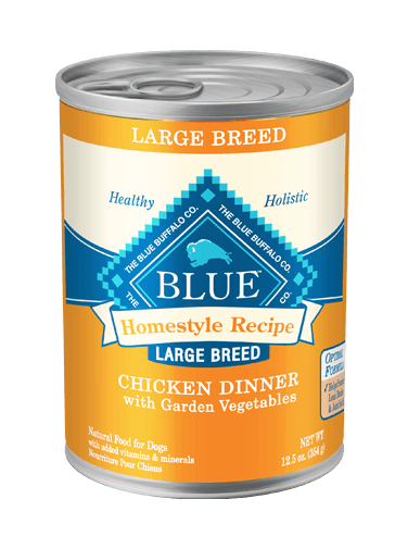 Blue Buffalo Homestyle Recipe Chicken Dinner with Garden Vegetables For Large Breed Dogs