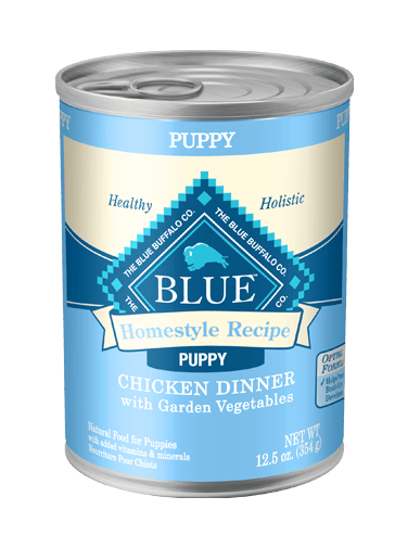 Blue Buffalo Homestyle Recipe Chicken Dinner with Garden Vegetables For Puppies