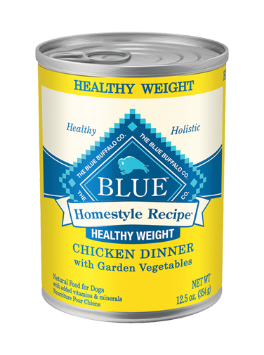 Blue Buffalo Homestyle Recipe Healthy Weight Chicken Dinner with Garden Vegetables