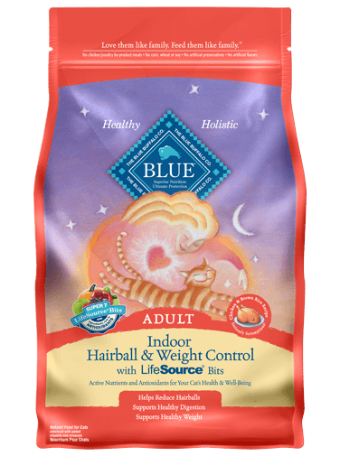 Blue Buffalo Indoor Hairball and Weight Control Chicken and Brown Rice Recipe For Adult Cats
