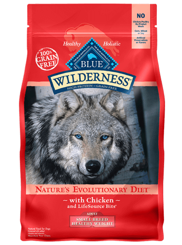Blue Buffalo Wilderness Adult Small Breed Healthy Weight Chicken Recipe