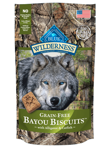 Blue Buffalo Wilderness Bayou Biscuits With Alligator and Catfish