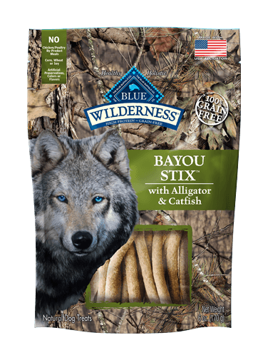Blue Buffalo Wilderness Bayou Stix With Alligator & Catfish