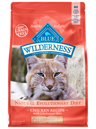 Blue Buffalo Wilderness Chicken Recipe For Indoor Hairball and Weight Control