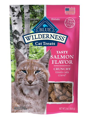 Blue Buffalo Wilderness Crunchy Cat Treats Salmon Flavor