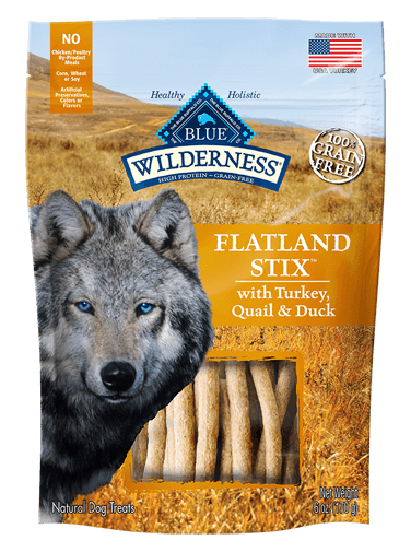 Blue Buffalo Wilderness Flatland Stix With Turkey, Quail & Duck