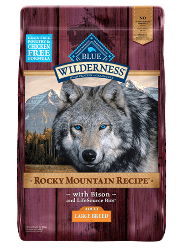 Blue Buffalo Wilderness Rocky Mountain Recipe Bison For Large Breed Dogs