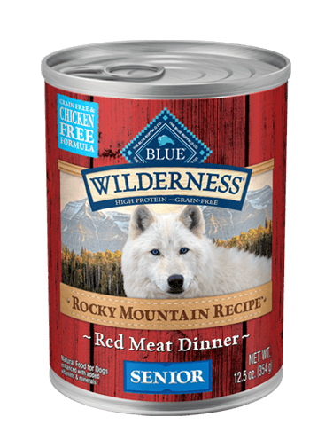 Blue Buffalo Wilderness Rocky Mountain Recipe Red Meat Dinner For Senior Dogs