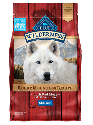Blue Buffalo Wilderness Rocky Mountain Recipe Red Meat For Senior Dogs
