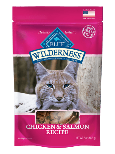 Blue Buffalo Wilderness Soft-Moist Cat Treats Chicken and Salmon