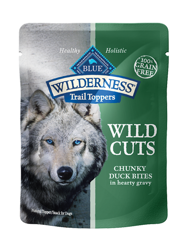 Blue Buffalo Wilderness Trail Toppers Wild Cuts Chunky Duck Bites In Hearty Gravy