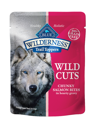 Blue Buffalo Wilderness Trail Toppers Wild Cuts Chunky Salmon Bites In Hearty Gravy