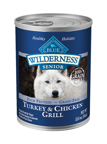 Blue Buffalo Wilderness Turkey and Chicken Grill For Senior Dogs