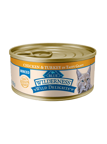 Blue Buffalo Wilderness Wild Delights Minced Chicken and Turkey In Tasty Gravy