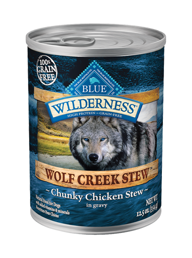 Blue Buffalo Wilderness Wolf Creek Stew Chunky Chicken Stew In Gravy