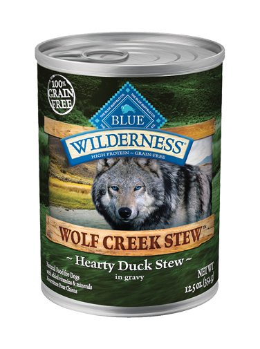 Blue Buffalo Wilderness Wolf Creek Stew Hearty Duck Stew In Gravy