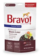 Bravo Bonus Bites Dry Roasted Bison Liver