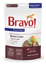 Bravo Bonus Bites Freeze Dried Bison Liver
