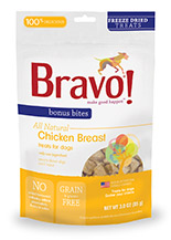 Bravo Bonus Bites Freeze Dried Chicken Breast