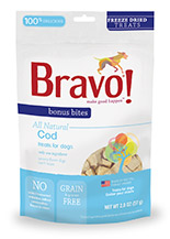Bravo Bonus Bites Freeze Dried Cod