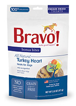 Bravo Bonus Bites Freeze Dried Turkey Heart