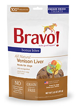 Bravo Bonus Bites Freeze Dried Venison Liver
