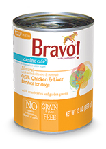 Bravo Canine Cafe 95% Chicken and Liver Dinner