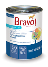 Bravo Canine Cafe Turkey Fricassee