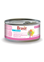 Bravo Feline Cafe 95% Beef, Turkey and Liver Dinner