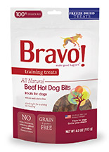 Bravo Training Treats Beef Hot Dog Bits