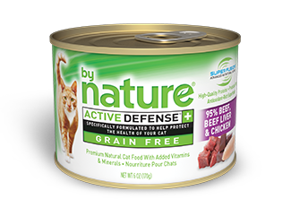By Nature Active Defense Grain Free 95% Beef, Beef Liver and Chicken