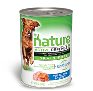 By Nature Active Defense Grain Free 95% Salmon and Turkey