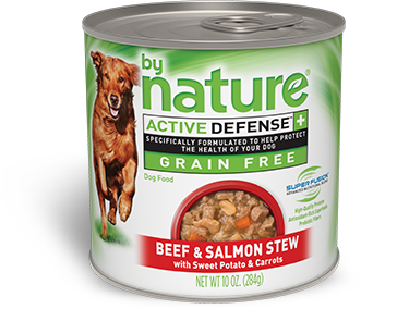 By Nature Active Defense Grain Free Beef and Salmon Stew