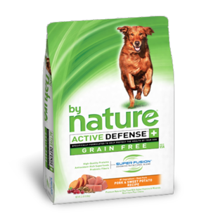 By Nature Active Defense Grain Free Pork and Sweet Potato Recipe