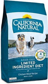 California Natural Grain Free Limited Ingredient Diet Chicken Meal Recipe For Adult Dogs