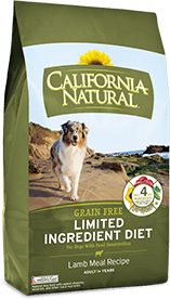 California Natural Grain Free Limited Ingredient Diet Lamb Meal Recipe For Adult Dogs