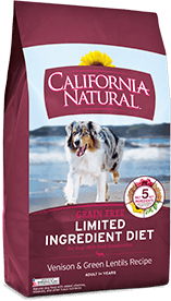 California Natural Grain Free Limited Ingredient Diet Venison & Green Lentils Recipe For Adult Dogs