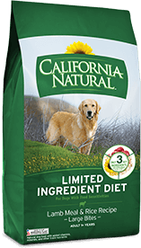 California Natural Limited Ingredient Diet Lamb Meal & Rice Recipe (Large Bites) For Adult Dogs
