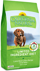 California Natural Limited Ingredient Diet Lamb Meal & Rice Recipe (Small Bites) For Adult Dogs