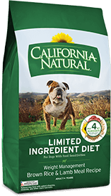 California Natural Limited Ingredient Diet Weight Management Brown Rice & Lamb Meal Recipe For Adult Dogs