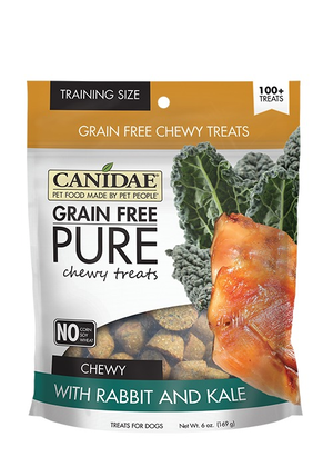Canidae Grain Free Pure Chewy Treats With Rabbit and Kale