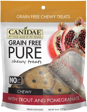 Canidae Grain Free Pure Chewy Treats With Trout and Pomegranate