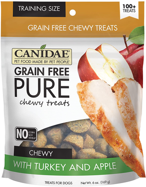 Canidae Grain Free Pure Chewy Treats With Turkey and Apple