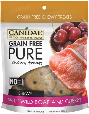 Canidae Grain Free Pure Chewy Treats With Wild Boar and Cherry